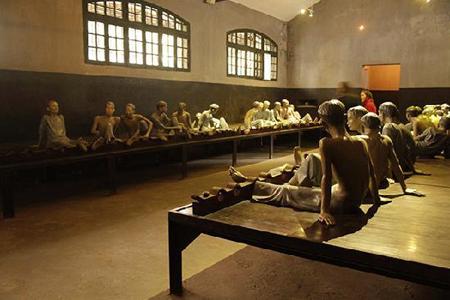 Prison dormitory in Hoa Lo Prison