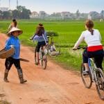Biking around Dong Ngac , Hanoi