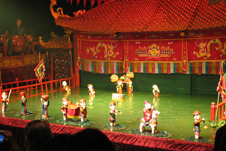 Water Pupet Show in Hanoi