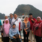 Muslim group in Halong Bay.