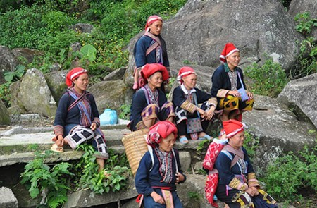 Red Dzao people in Giang Ta Chai Village
