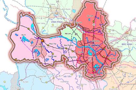 Map Ha Noi.Hanoi District Map Hanoi Tours