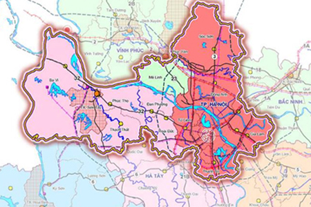 Ha Noi Vietnam Map.Hanoi District Map Hanoi Tours