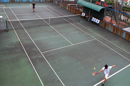 Tennis court, Thang Loi Hotel