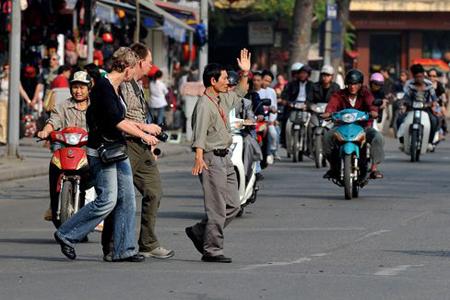 Chaotic traffic in Hanoi
