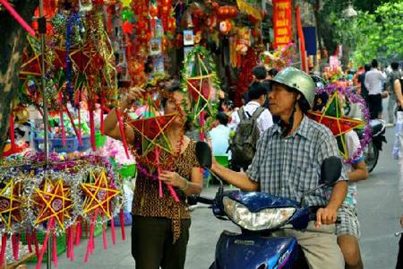 Hanoi Old Quarter in Mid Autumn Festival