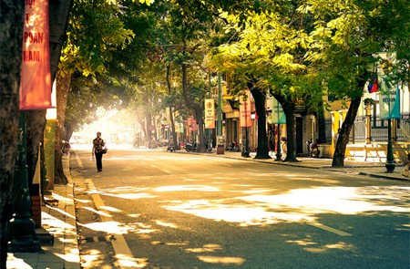 August is the transitional season in Hanoi