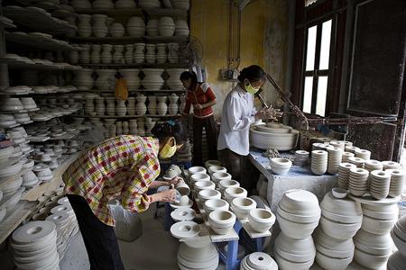The artisans in Bat Trang Ceramic Village