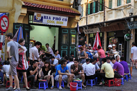 Good place for beer in Hanoi