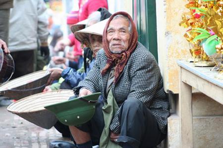 Beggars in Hanoi