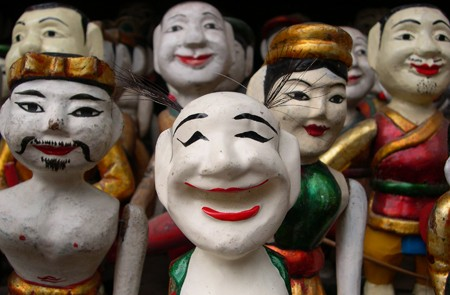 Traditional water puppets