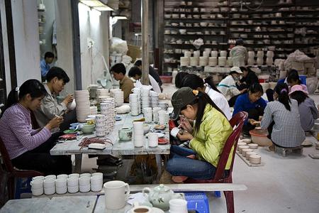 A workshop in Bat Trang Ceramic Village