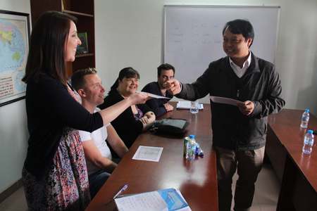The students get the certificate after the class