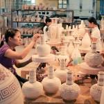 Visit the workshop of the skillful artisans in Bat Trang Village
