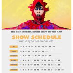 Ionah Show Schedule, 2016