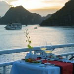 Romantic Dining on the sundeck, V Spirit Cruise