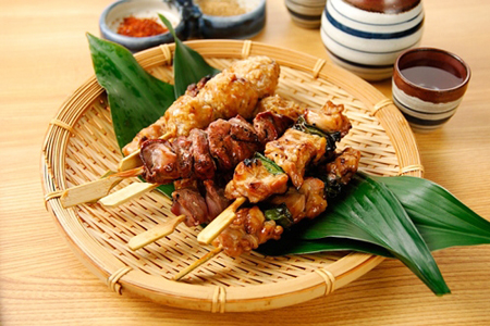 Grilled meat by stick