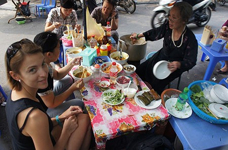 Eating in Hanoi