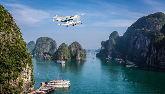 Halong Discovery by Airplane with Hai Au