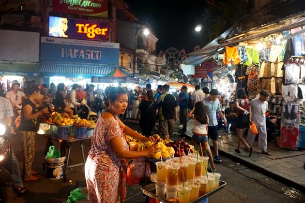 Street vendor in Hanoi night market