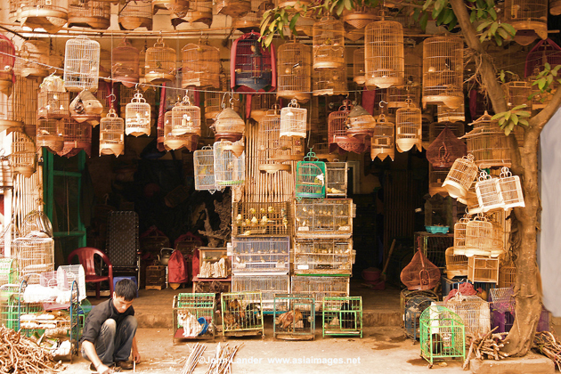 Bird cage making house in Hanoi Old Quarter