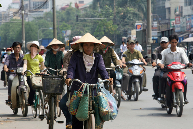 Busy traffic in Hanoi