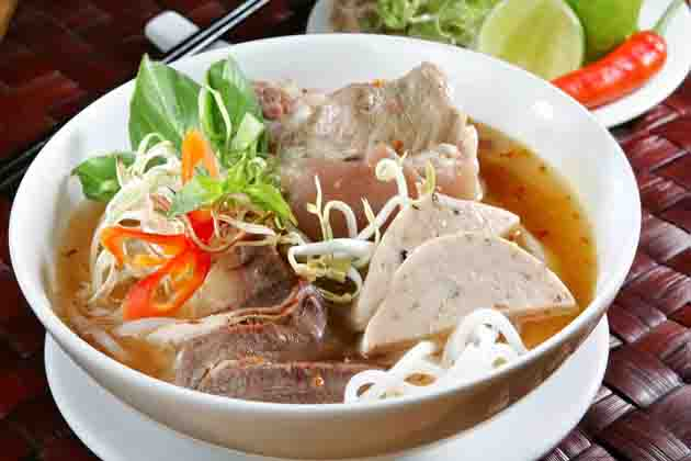 Rice Noodle and Beef Soup of Hue - Bun bo Hue